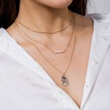 European and American Popular Necklace Multi-Layer Natural Pearl Necklace Long Women's Elegant All-Match Color Pendant