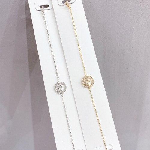 New Micro-Inlaid Diamond Bracelet Korean Fashion Design Women's Bracelet Electroplated Real Gold Hand Jewelry