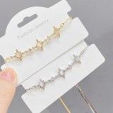 Korean Opal Eight Awn Star Pull Bracelet Female Personalized Fashionable All-Match Adjustable Bracelet Ornament