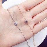 Korean Minimalist Women's Single Diamond Gold-Plated Bracelet Copper Micro Rhinestone New Bracelet