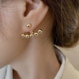 Korean Style Sterling Silver Needle Fashion Design Sense Earrings Women's Trending Earrings