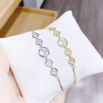 Korean European and American round Zircon Pull Bracelet Korean Simple Personalized Temperament Adjustable Bracelets