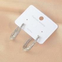 Hot Sale U-Shaped Earrings Women's Electroplated Platinum Stud Earrings Sterling Silver Needle Ornament Fashion
