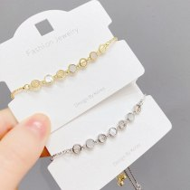 Korean Style Fashion Pull Bracelet Women's Electroplated Real Gold Shell Bracelet Adjustable Bracelet