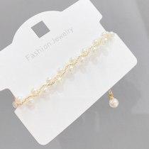 Irregular Natural Pearl Pull Bracelet Female Baroque Internet Celebrity French Style High Sense Bracelet Ornament