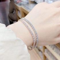 New Fashion Ornament Diamond Bracelet Korean Women's Full Diamond Square Bracelet