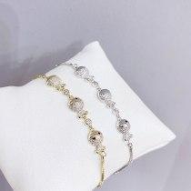 New Bracelet Korean Bracelet Pull Full Diamond Bracelet Adjustable Bracelet Female Accessories Wholesale