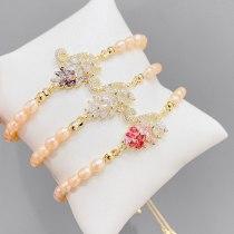Baroque Natural Freshwater Pearl Bracelet Female Swan Bracelet European and American Bracelet Korean Jewelry Accessories