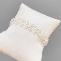 New Super Fairy White Crystal Bracelet Female Korean Fashion Design Sense Hollow Ball Jewelry Fashion