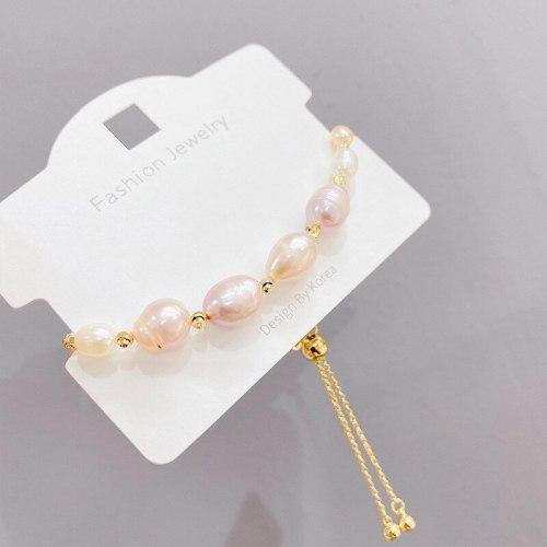 Baroque Pearl Bracelet Fishtail Ins Special-Interest Design Student Girlfriends Sisters Simple Bracelet Fashion Bracelet