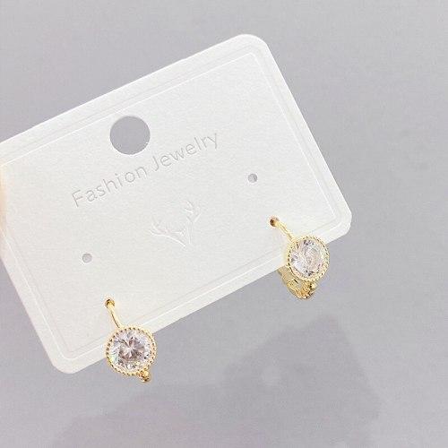 Niche Design Refined Zircon Ear Studs New Trendy Simple Cold Style Ear Clip Women
