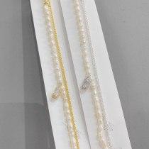 Natural Shaped Baroque Pearl Bracelet Korean Style Peanut Pendant Bracelet Double Layer Bracelet for Women