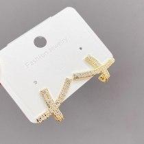 Sterling Silver Needle Full Diamond Niche Bow Stud Earrings South Korea Graceful Online Influencer Personalized Earrings