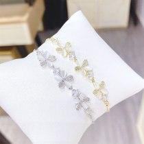 Gold Plating Opal Petal Bracelet Female Online Influencer Bracelet Student Girlfriends Korean Style Personalized Ornament