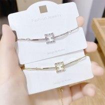 Internet Celebrity Ins Delicate Super Shining Zircon Pull Bracelet Female Adjustable Korean Rhinestone Bracelet Ornament
