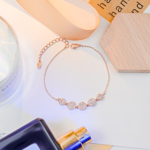 Cold Style Geometric Element round Piece Women's Bracelet Japanese and Korean New Simple Internet Celebrity Bracelet