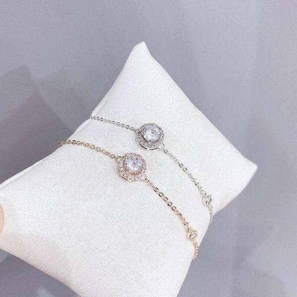 INS Zircon Girls' Bracelet Japanese and Korean New Simple Personality Elegant Jewelry Small Jewelry Wholesale
