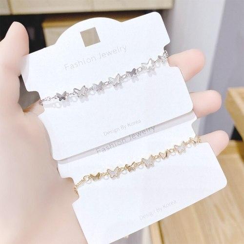 Shell Butterfly Micro-Inlaid Bracelet Female Korean Style Super Fairy Diamond Bracelet Personal Influencer Fashion Jewelry