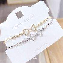 New Fashion Student Bow Micro Inlaid Zircon Adjustable Beads Bracelet Bracelet Female Accessories