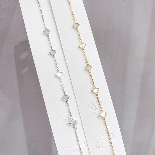 New Shell Bracelet Women's Korean-Style Light Luxury Temperament Bracelet Mori Fashion Inlaid Shell Bracelet Ornament