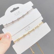 Women's Korean-Style Fashionable Gold-Plated Pull Bracelet Special-Interest Design Light Luxury Shell Bracelet
