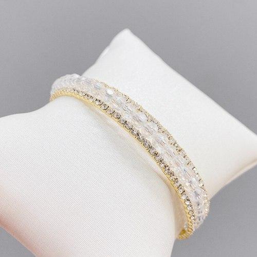 Hot Sale Crystal Bracelet Female Micro-Inlaid Full Diamond Opening Adjustable Bracelet Ornament
