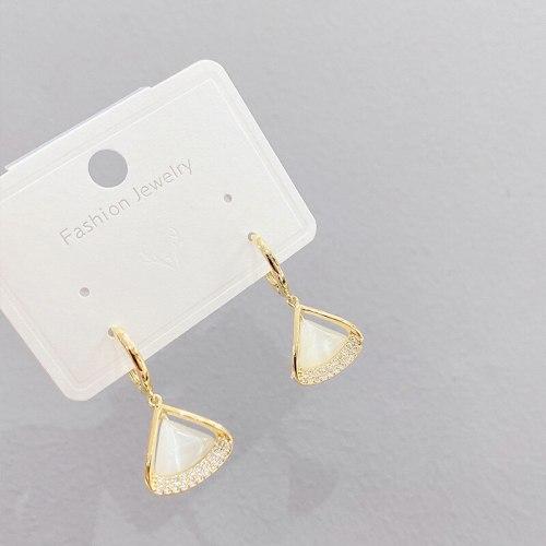 Cool Style Opal Ear Clip South Korea Minimalism Personality Earrings New Fashion Trendy Earrings