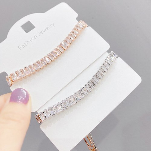 European and American Fashion Zircon Pull Bracelet Women's Adjustable Gold-Plated Bracelet Hand Jewelry