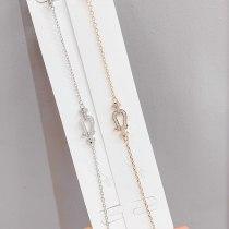 Women's Korean-Style Fashion Horseshoe Bracelet, Micro-Inlaid Diamond Bracelet, Internet Celebrity All-Match Jewelry