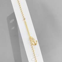 European And American Fashion Anchor Chain Women 'S Hot Sale Gold Plated Bracelet Ornament Wholesale