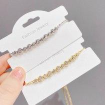 Korean Style Micro Inlaid Zircon Bracelet Women's Simple Fashion All-Match Bracelet Niche Design Jewelry Fashion