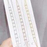 Fashion Hand Accessories Student Bracelet Zircon Claw Chain Micro Inlaid Zircon Full Diamond Bracelet