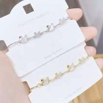 New Swan Bracelet Female Inlaid Shell Rose Gold Fashion Romantic Ornament Female