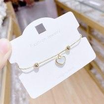 New Korean Style Peach Heart Opal Pull Bracelet Gift Ornament Wholesale