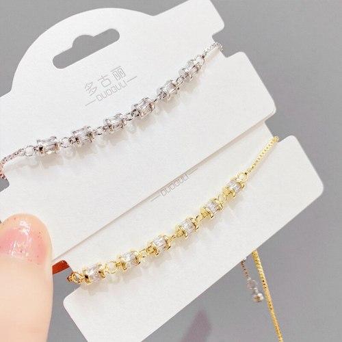 New Personalized Fashion Bracelet Female Micro Inlaid Zircon Light Luxury Bracelet Student Jewelry