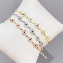 Micro Inlaid Zircon Pull Bracelet Female Korean Fashion Electroplated Real Gold Bracelet Ornament