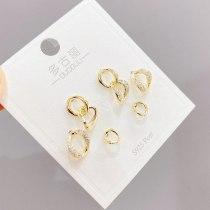 Sterling Silver Needle Fashion Three-Piece Set Stud Earrings European and American Geometric Simple Stud Earrings