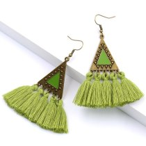 New Tassel Earrings Fashion Gorgeous Triangle Drop Oil Earrings Bohemian Style Spring and Summer Vacation Jewelry Women