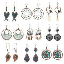 Hot Sale Earrings Set European and American Popular Ornament Vintage Earrings Wholesale