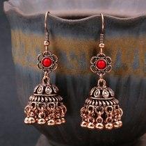 Bell Eardrops Earrings Female Creative Nepal Gold Silver Accessories Bohemian Metal Tassel Earrings
