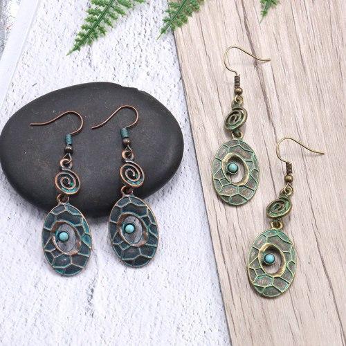 Personalized Retro Metal Alloy Earrings Women's European and American Trendy Jewelry Cross-Border Hot Sale Long Earrings