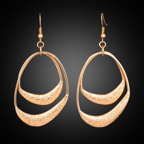 European and American Current Geometry Alloy Earring Women's Popular Asian Gold Silver Earrings Women's Exaggerated Jewelry
