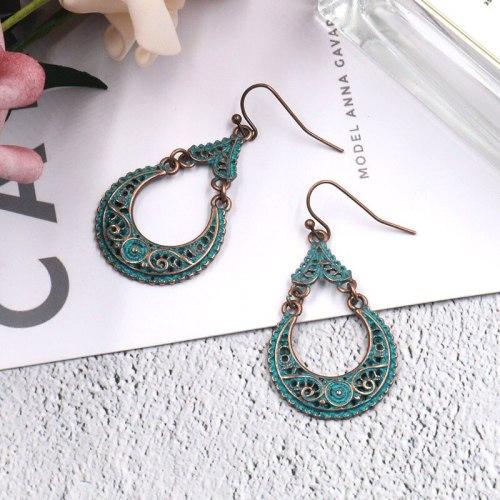 Retro Drop-Shaped Earrings Fashion Creative Alloy Earring European and American Popular Women's Jewelry Wholesale Cross-Border
