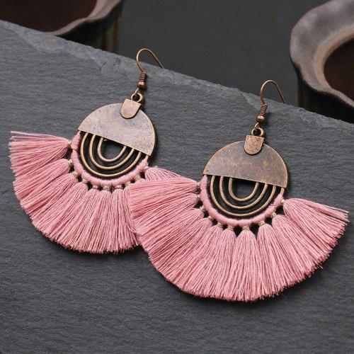 European and American Jewelry Bohemian Tassel Earrings Fashion Hollowed-out Scallop Earrings Female Earring Ornament Ornament