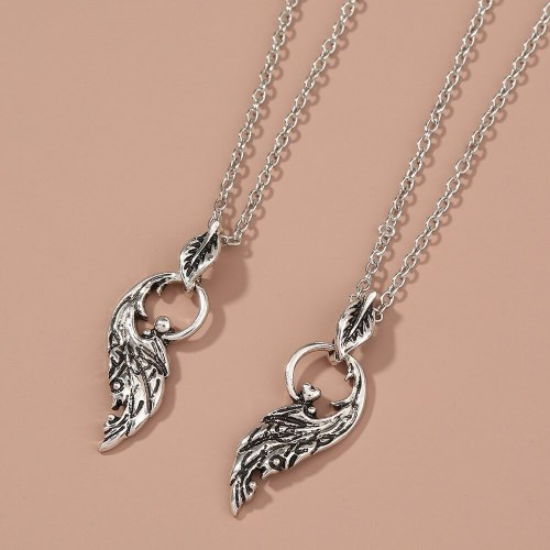Hot Sale in Europe and America Necklace Heart Shape Diamond Sisters Pendant Set of Ornaments Women's Accessories Wholesale
