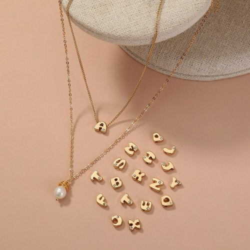 European and American Fashion New Product Set 26 Letter Set Simple Fashion Casual Versatile Multi-Layer Necklace Ins