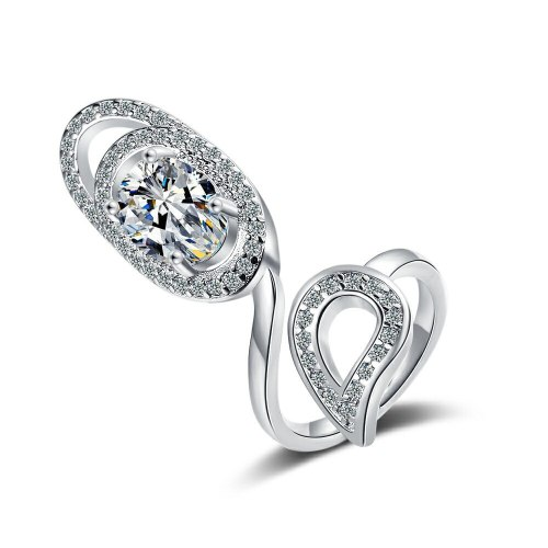 European Personalized Fashion Creative Open Ring Women's Elegant All-Match Diamond-Embedded Fingernail Cap Hand Jewelry Xzjz401