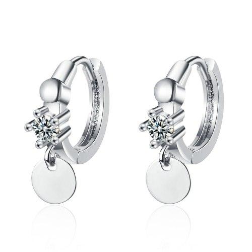 Elegant Lady Single Diamond Wafer Ear Clip Women's Simple Summer Geometric Ear Jewelry Xzeh642