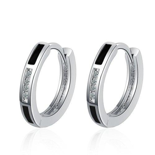 Ear Clip Women's Japanese and Korean Stud Earrings Simple Fresh Cute Epoxy Fashion Ear Jewelry Xzeh637
