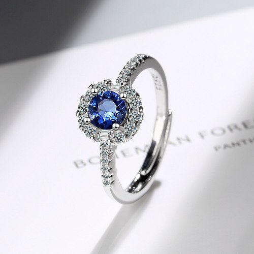 Flash Zirconium Diamond Ring Open Mouth Design Fashionable Temperament Ring Women's Ring Bracelet Xzjz392